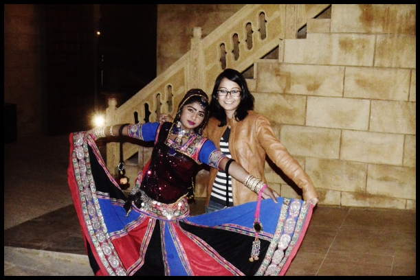 With Rekha after the dance session
